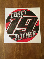 "Corey Zeitner 2019 5"" Decal"