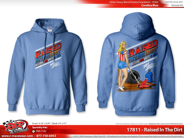 "Dirt Shirts USA- ""Raised In The Dirt"" Hoodie"