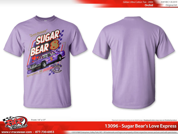 "Sugar Bear Retro 1971 Cadillac ""Love Express"" Orchid T-shirt"