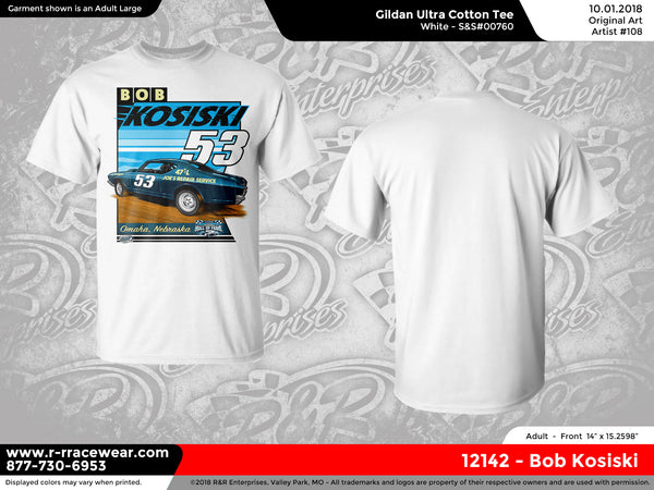 Bob Kosiski Retro 1969 White T-Shirt