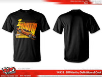 "Bill Martin Retro 1977 ""Definition of Cool"" Black  T- shirt"