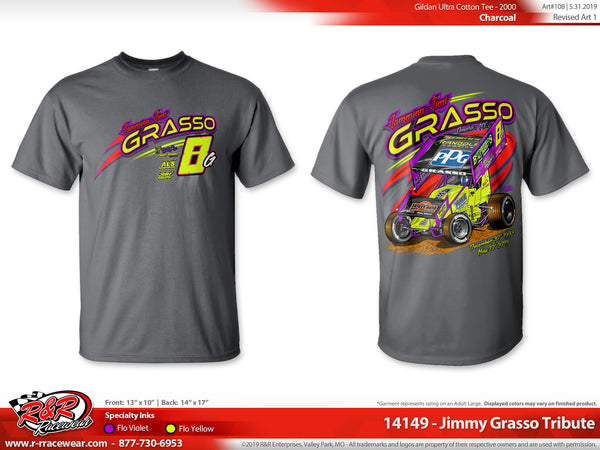 Jimmy Grasso Tribute 2019 Charcoal Grey T-shirt ***PREORDER PURCHASE***