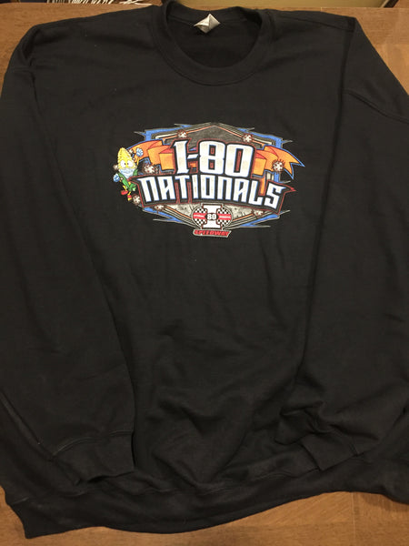 I-80 Nationals Black Crew Neck Sweatshirt