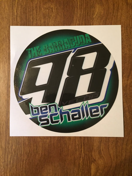 "Ben Schaller 2019 5"" Decal"