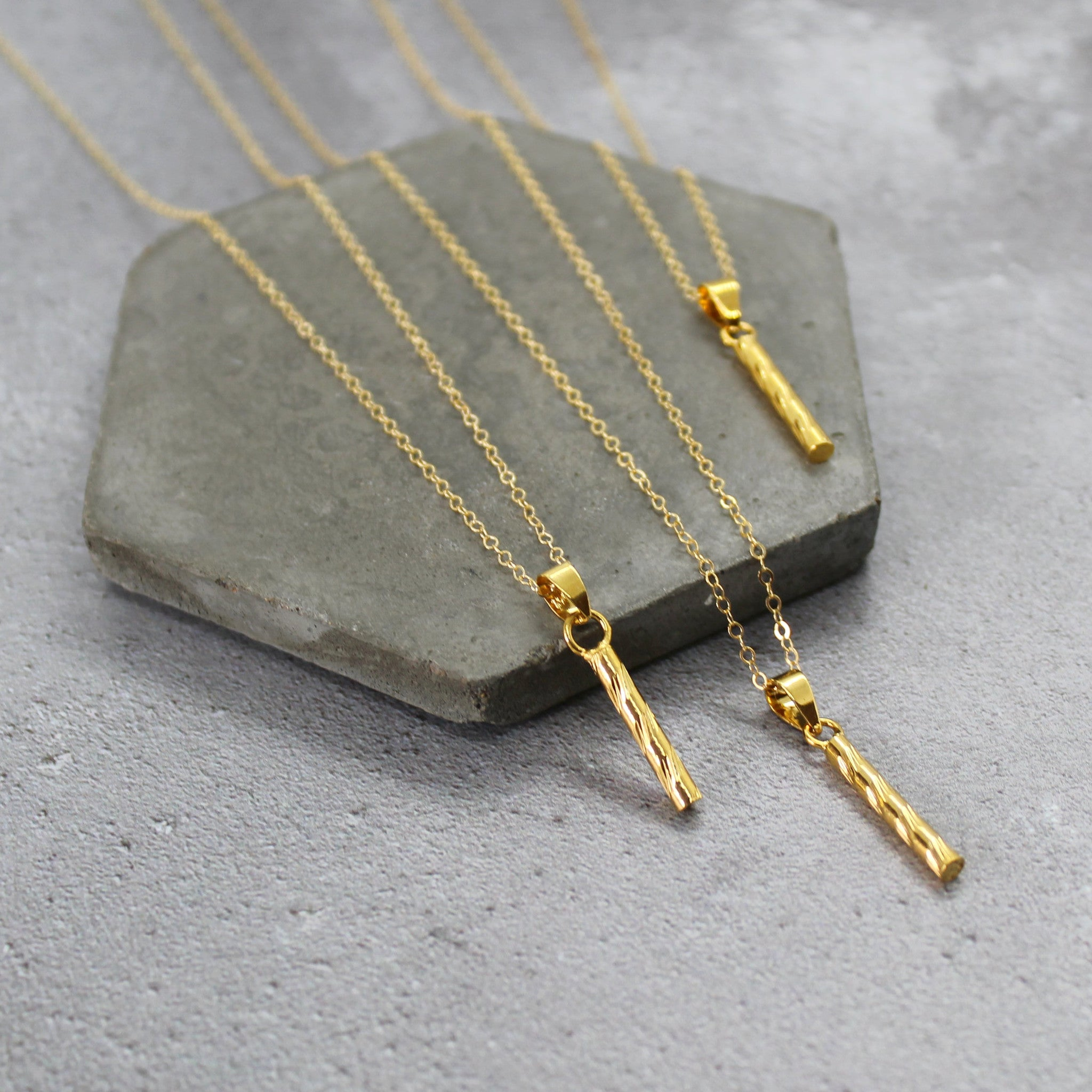 Gold filled bar necklace - Mara studio
