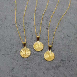 Gold filled circle necklace - Mara studio