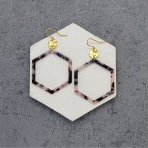 Acrylic hexagon earrings - Mara studio
