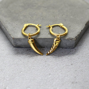 Gold filled horn hoops - Mara studio