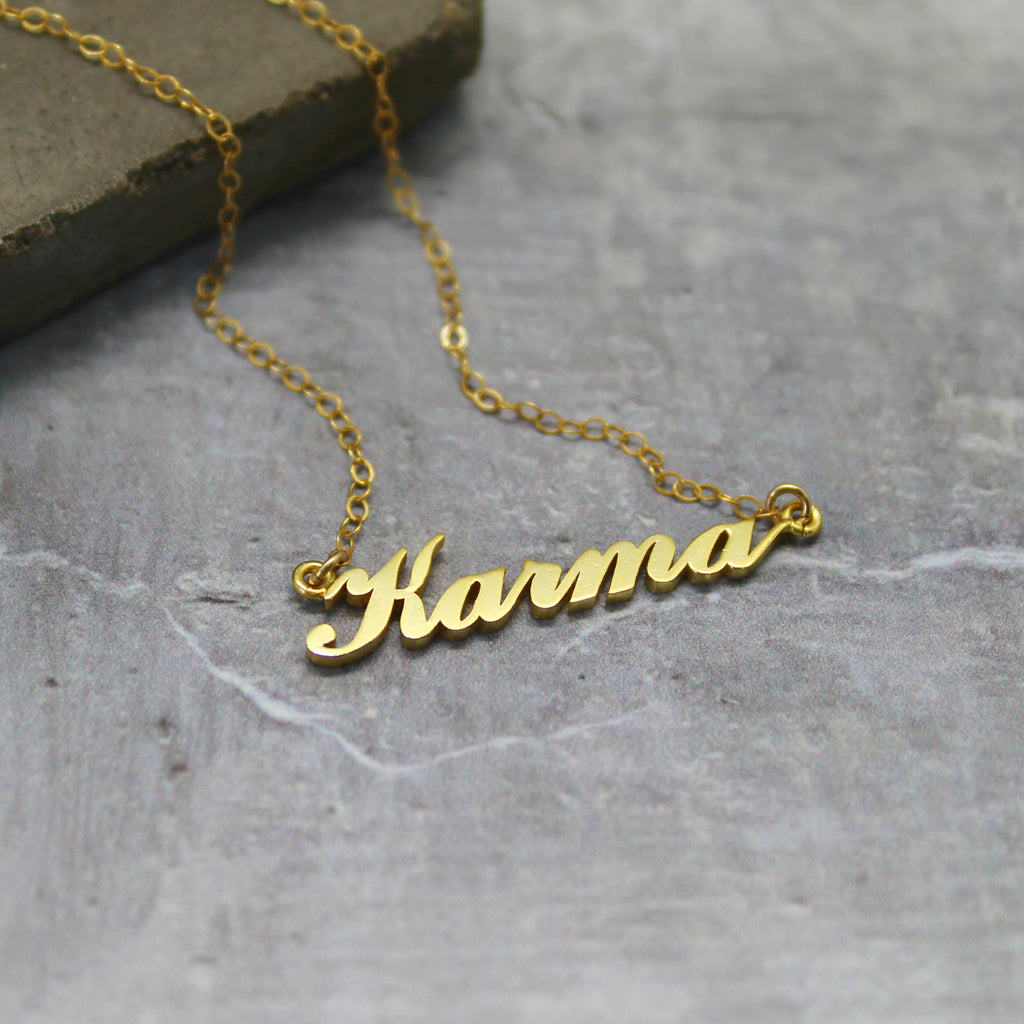 Gold Karma necklace - Mara studio