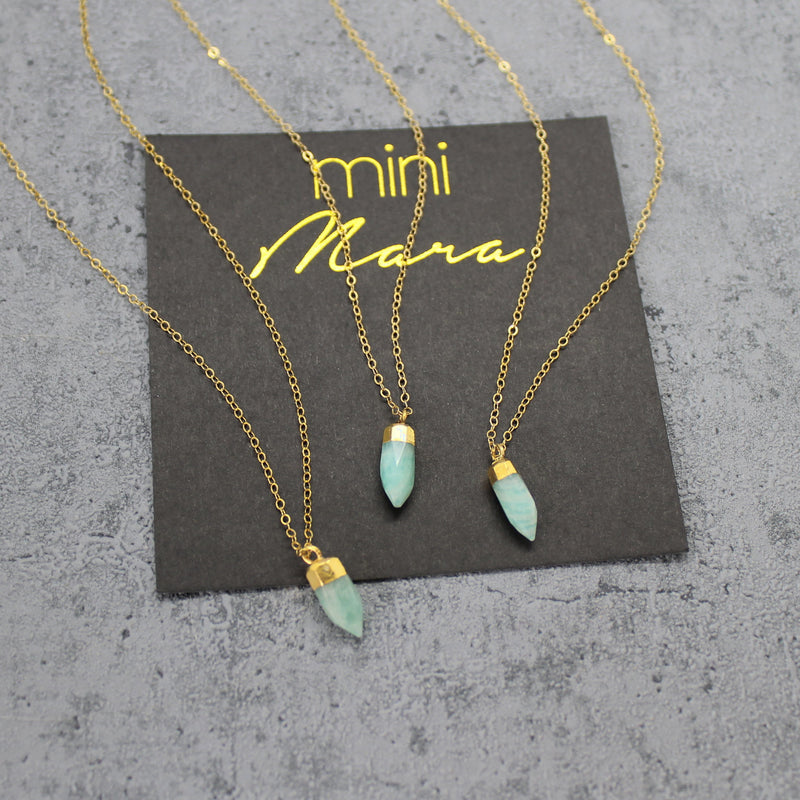 Kid's amazonite spike necklace - Mara studio