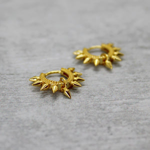 Vermeil gold multi spike huggies - Mara studio