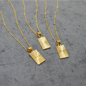 Gold filled rectangle necklace - Mara studio