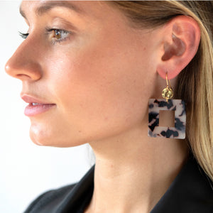 Acryclic square earrings - Mara studio