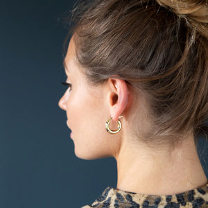 Chunky gold hoops - Mara studio