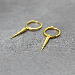 Gold spike huggies - Mara studio
