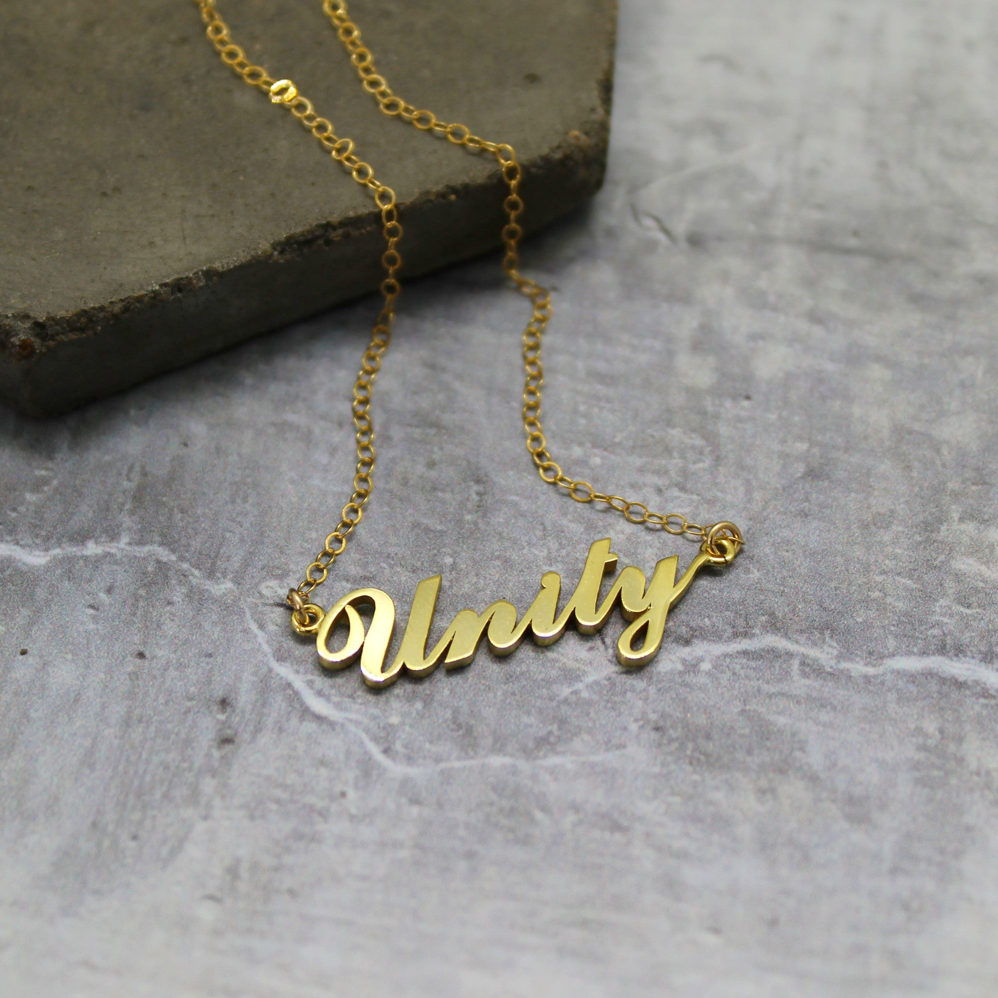 Gold Unity necklace - Mara studio