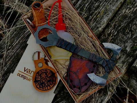 Viking Double Bladed Berserker Axe Bottle Opener
