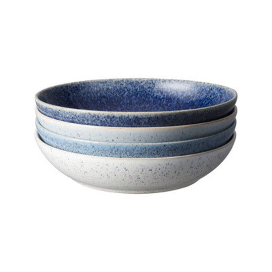 Denby Studio Blue Pasta Bowl 4 piece Set