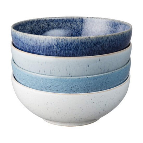 Denby Studio Blue Cereal Bowl 4 piece Set