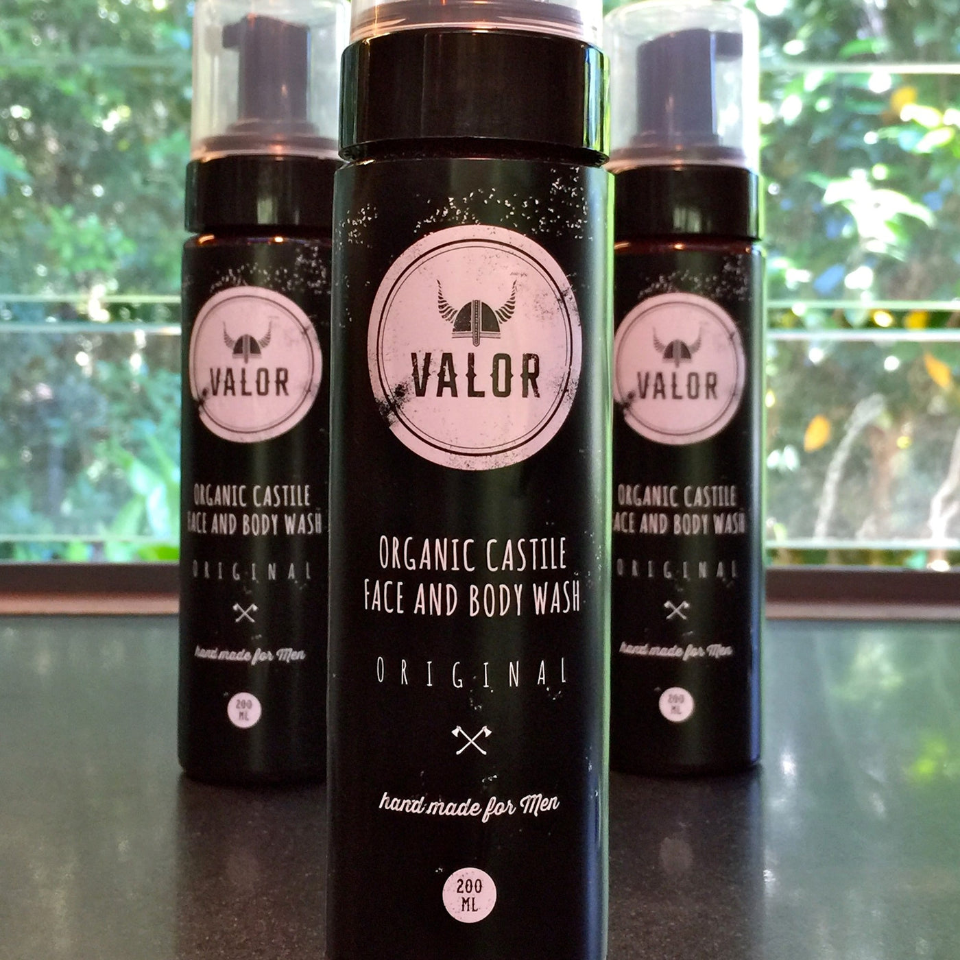 Valor Castile Face Hand and Body Wash Foam
