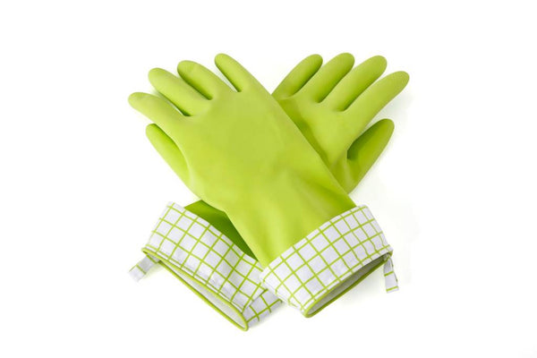 Full Circle Natural Latex Cleaning Gloves Large Green