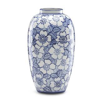 Lenox Painted Indigo Floral Tall Vase 24cm