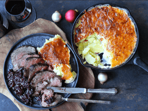 Grilled Aussie Black Angus Steak, Gratin & Plum Chutney