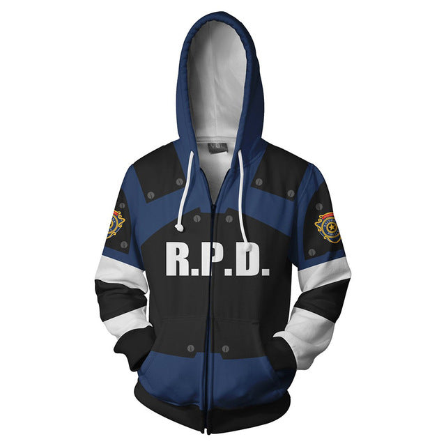 Moletom com Capuz Cosplay Leon Scott Kennedy - Majestoso Store