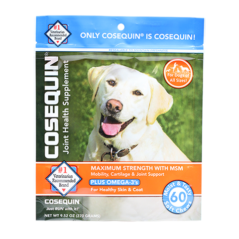 COSEQUIN® MAXIMUM STRENGTH WITH MSM PLUS OMEGA-3's SOFT CHEWS - 120CT