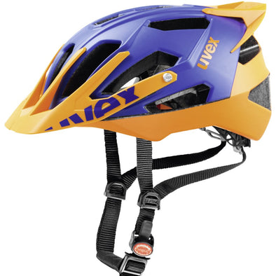 UVEX Quatro Pro Enduro Mountain Bike Cycling Helmet Blue/Orange