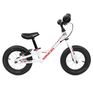 "Saracen US Edition 12"" Freewheel Balance Bike in White"