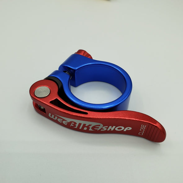 Bicycle Seat Clamp Red Blue
