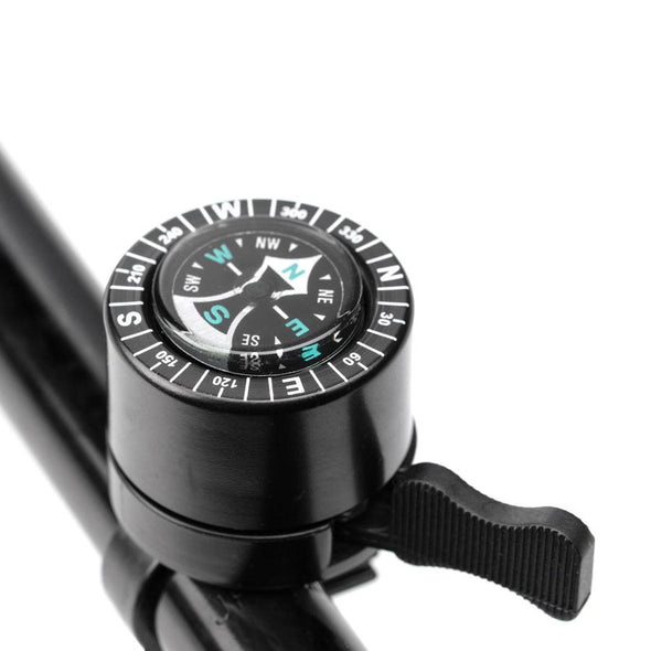 Compass Bicycle Bell in Black - Tikes Bikes