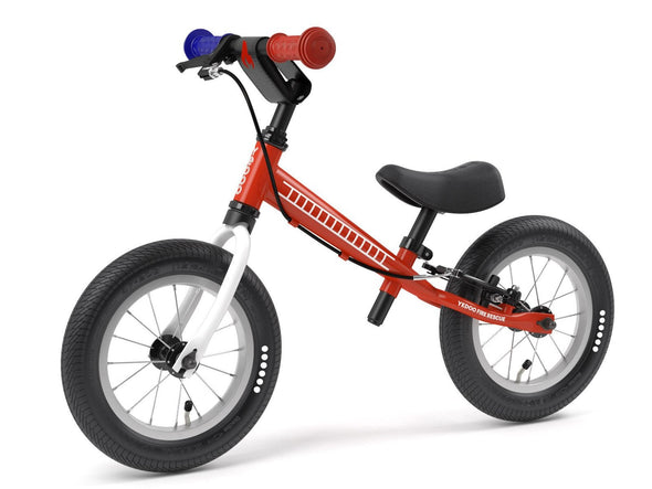 "TooToo FIRE TRUCK 12"" Balance Bike by Yedoo New RESCUE Collection"