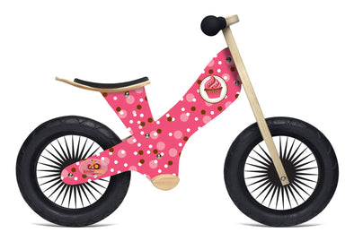 Kinderfeets Retro Cupcake Balance Bike