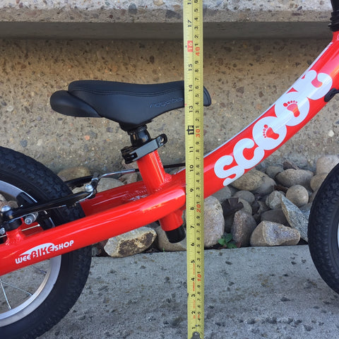 WeeDropper™ Seat Lowering Kit for Scoot Balance Bikes