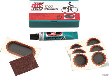 REMA TT02 TipTop Bicycle Tube Patch Kit and Park Tool Tire Levers