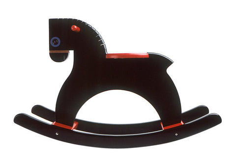 Playsam Swedish Wood Rocking Horse - Black - Tikes Bikes - 2