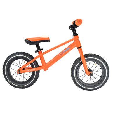 "Kiddimoto Mountain 12"" Balance Bike in Matte Orange"