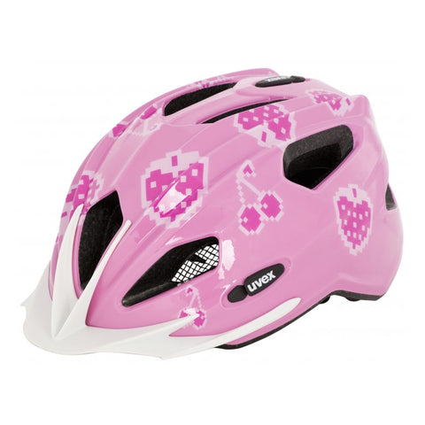 UVEX Quatro Junior Helmet - Cherry Rose