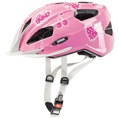 uvex Quatro Junior Helmet - Cherry Rose - Tikes Bikes - 3