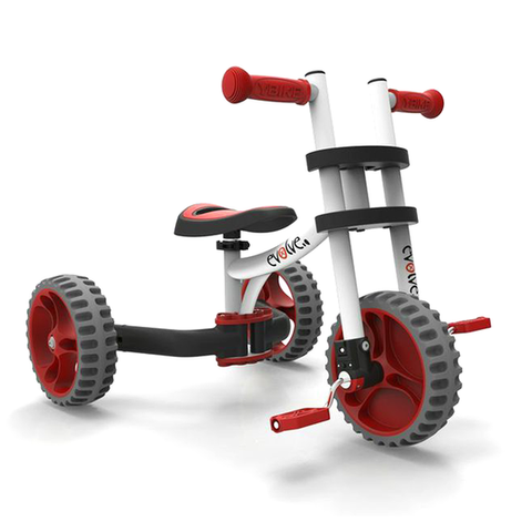 YBIKE Evolve 3-in-1 Trike to Bike - Red - Tikes Bikes - 2