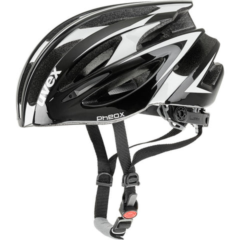 UVEX Pheox Racing Helmet Black/White