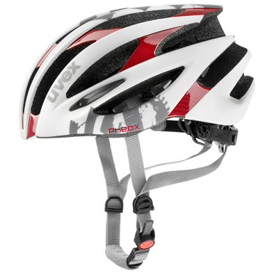 UVEX Pheox Cycling Racing Helmet White/Red