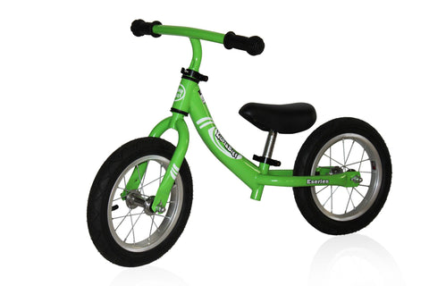 KinderBike E Series - Green / Air - Tikes Bikes - 1