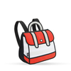 Stripe Backpack  Jump from Paper- Red- Tikes Bikes