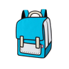 Airy Blue Spaceman Backpack - Color Me In - Tikes Bikes