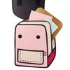 Spaceman Backpack - Coo Coo- Pink- Tikes Bikes