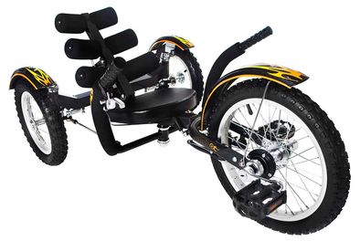 Mobo Mobito Three Wheeled Cruiser -Black- Tikes Bikes