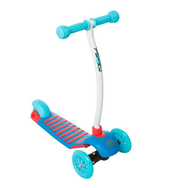 YBIKE Kids GLX Cruze 3-Wheel Kick Scooter, Blue